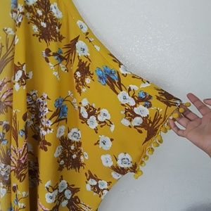 Umgee Tops - Umgee Honey Floral Pom Pom Open Front Kimono